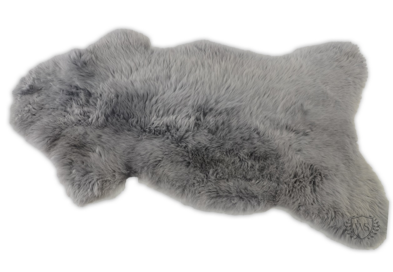Picture of: Natural Sheepskin Rug Grey Fur Bed Cover Fluffy And Soft Shaggy 100 Genuine Ebay