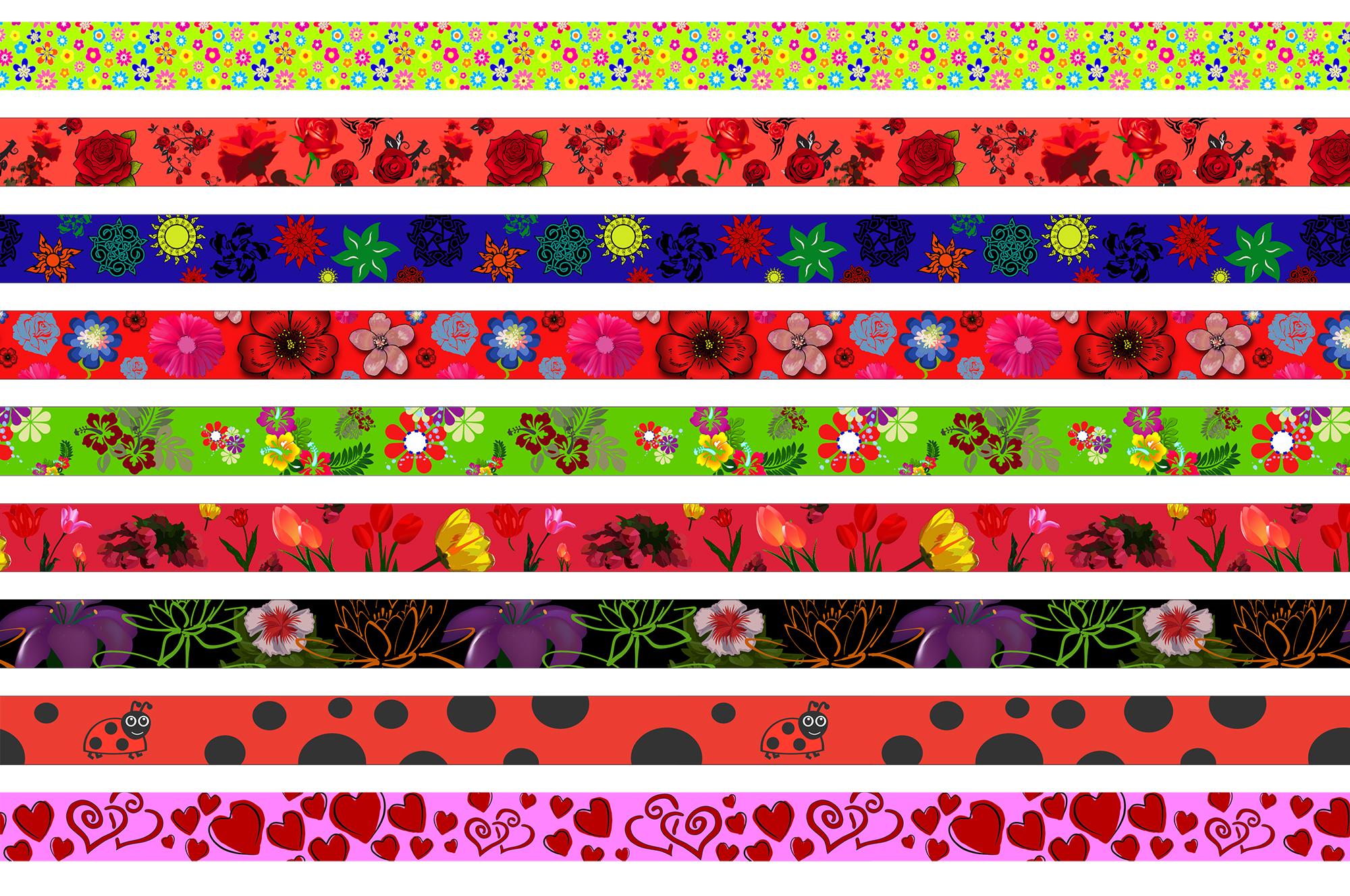 kwiatki, biedronki, serduszka variation-2000px